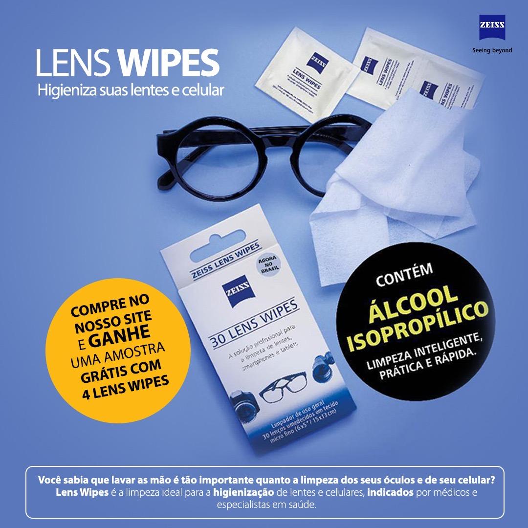 Compre pelo site e ganhe quatro lens wipes